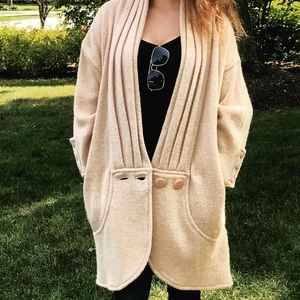 Vtg French Sweater Coat